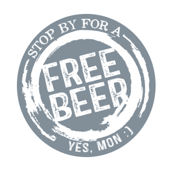 stop by for a free beer
