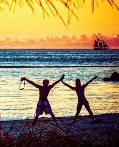 couple on a key west beach