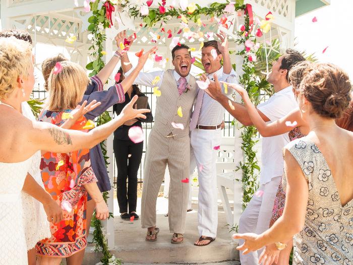 key west guys wedding
